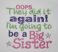 I'm going to be a big sister brother embroidered sleepsuit and or bodysuit/ vest